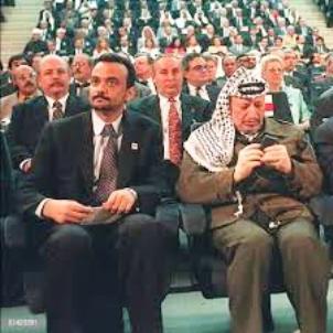 الوزير الاول الاسبق ولد بوبكر مع الرئيس الفلسطيني الشهيد ياسر عرفات