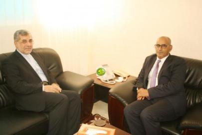 وزير الصيد يستقبل السفير الايراني في موريتانيا