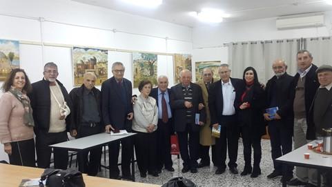 صورة جماعية لأبرز المشاركين في الأمسية