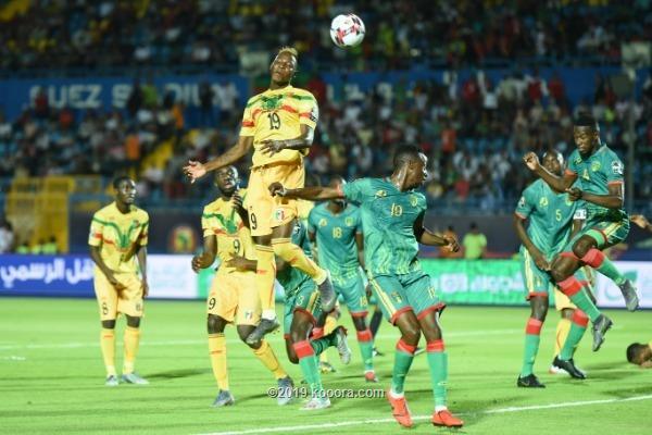 من مباراة موريتانيا ومالي في امم افريقيا بمصر