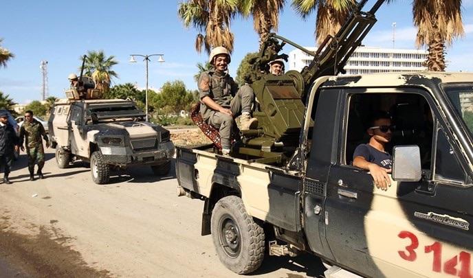 قوات اللواء حفتر تتحدث تقدمها في طرابلس وأن عملياتها مستمرة في المنطقة الغربية وتسير وفقاً للخطة الموضوعة (أ ف ب)