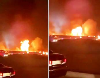 السعودية نشوب حريق ضخم في محطة قطار الحرمين بجدة وكالة التواصل