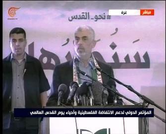 السنوار: في العام 2012 و2014 ضربت المقاومة الفلسطينية تل أبيب بصواريخ فجر بدعم من إيران